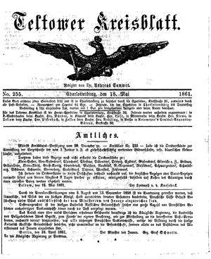 Teltower Kreisblatt on May 18, 1861