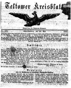 Teltower Kreisblatt vom 25.05.1861