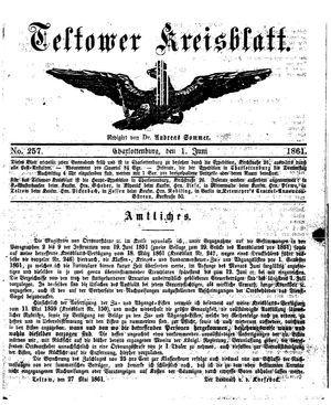 Teltower Kreisblatt vom 01.06.1861