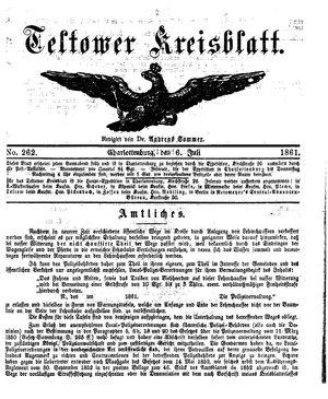 Teltower Kreisblatt vom 06.07.1861