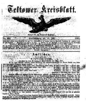 Teltower Kreisblatt vom 13.07.1861