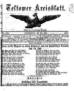 Teltower Kreisblatt vom 20.07.1861