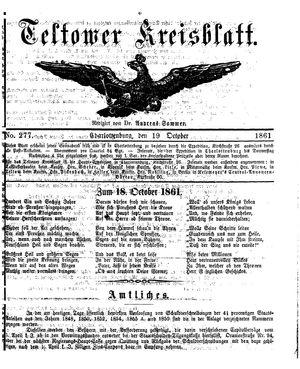 Teltower Kreisblatt on Oct 19, 1861