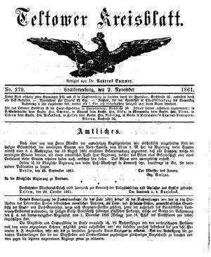 Teltower Kreisblatt vom 02.11.1861