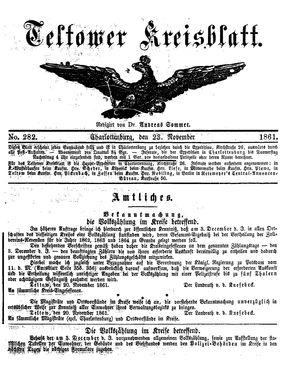 Teltower Kreisblatt vom 23.11.1861