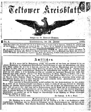 Teltower Kreisblatt vom 24.01.1863