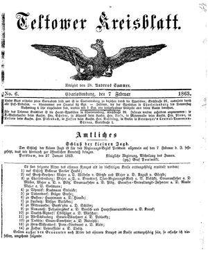 Teltower Kreisblatt vom 07.02.1863