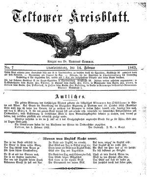 Teltower Kreisblatt on Feb 14, 1863