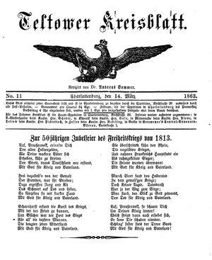 Teltower Kreisblatt on Mar 14, 1863