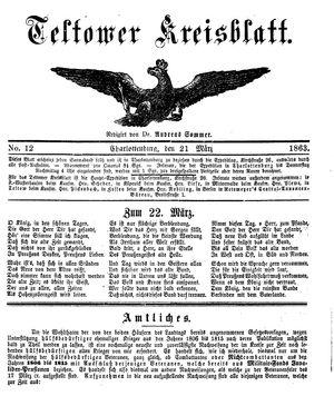 Teltower Kreisblatt on Mar 21, 1863