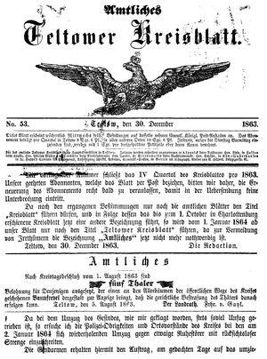 Teltower Kreisblatt on Dec 30, 1863