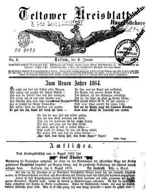 Teltower Kreisblatt vom 06.01.1864