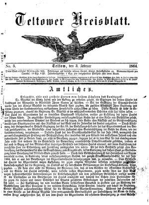 Teltower Kreisblatt vom 03.02.1864