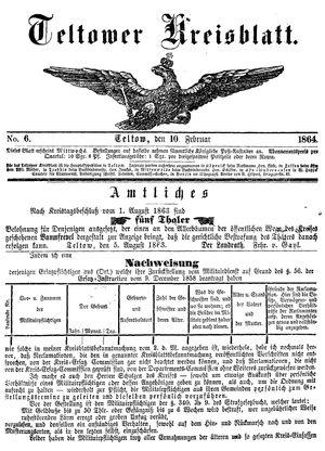 Teltower Kreisblatt on Feb 10, 1864