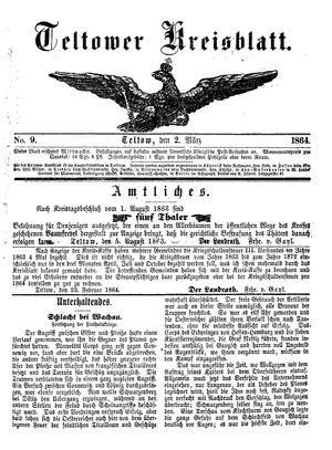 Teltower Kreisblatt vom 02.03.1864