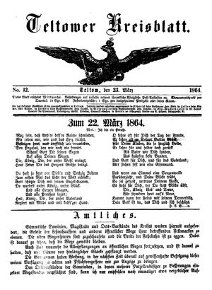 Teltower Kreisblatt vom 23.03.1864