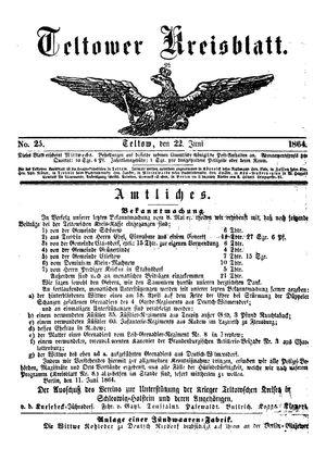 Teltower Kreisblatt on Jun 22, 1864