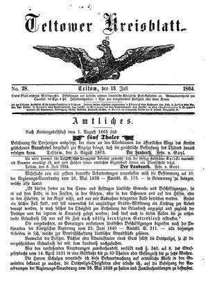 Teltower Kreisblatt on Jul 13, 1864