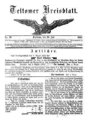 Teltower Kreisblatt vom 20.07.1864