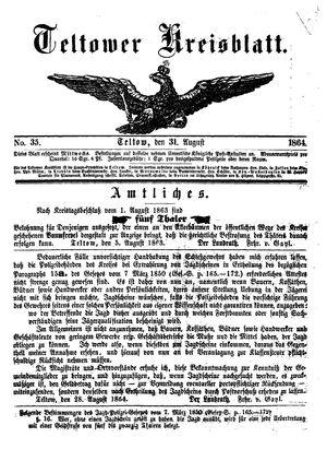 Teltower Kreisblatt on Aug 31, 1864