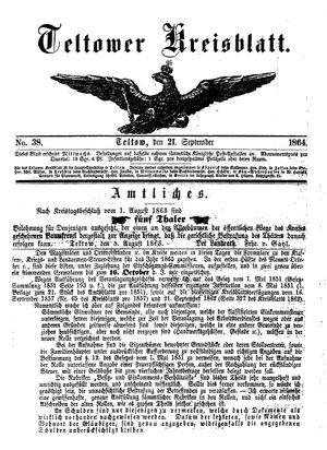 Teltower Kreisblatt on Sep 21, 1864