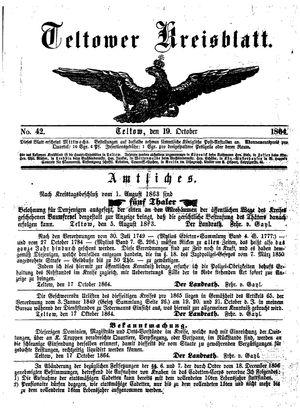 Teltower Kreisblatt vom 19.10.1864