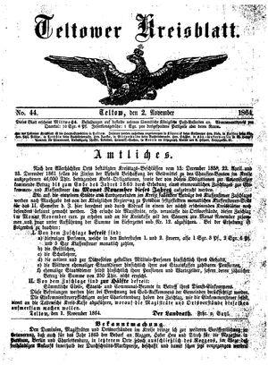 Teltower Kreisblatt vom 02.11.1864