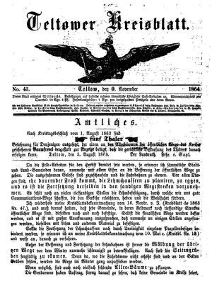 Teltower Kreisblatt vom 09.11.1864