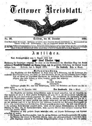 Teltower Kreisblatt vom 14.12.1864