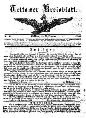 Teltower Kreisblatt on Dec 21, 1864