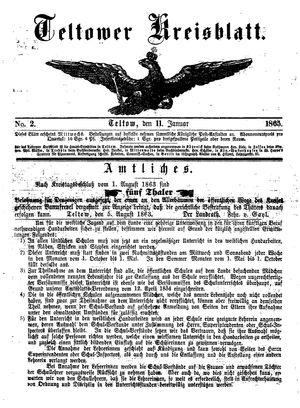 Teltower Kreisblatt on Jan 11, 1865