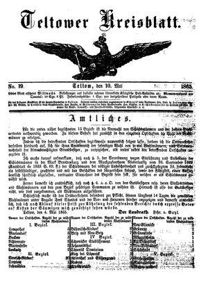 Teltower Kreisblatt vom 10.05.1865
