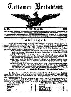 Teltower Kreisblatt vom 17.05.1865