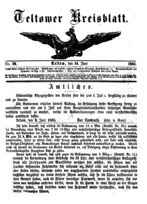 Teltower Kreisblatt on Jun 14, 1865