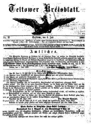 Teltower Kreisblatt on Jul 5, 1865
