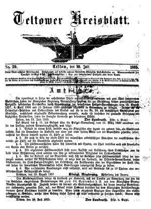 Teltower Kreisblatt vom 19.07.1865