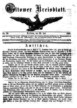 Teltower Kreisblatt vom 26.07.1865