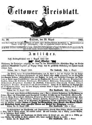 Teltower Kreisblatt on Aug 23, 1865