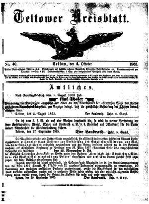 Teltower Kreisblatt vom 04.10.1865