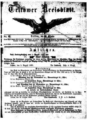 Teltower Kreisblatt vom 18.10.1865
