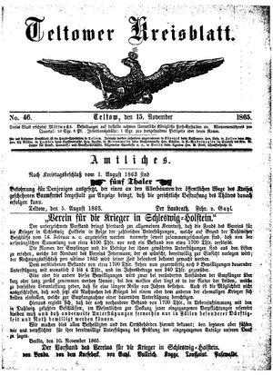 Teltower Kreisblatt on Nov 15, 1865