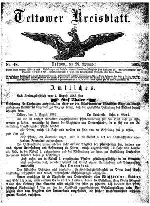 Teltower Kreisblatt on Nov 29, 1865