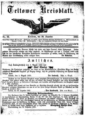 Teltower Kreisblatt on Dec 28, 1865
