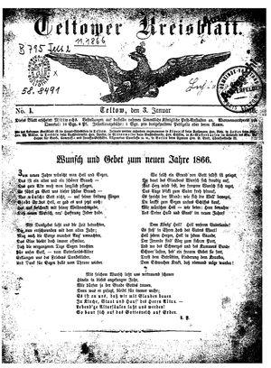 Teltower Kreisblatt vom 03.01.1866