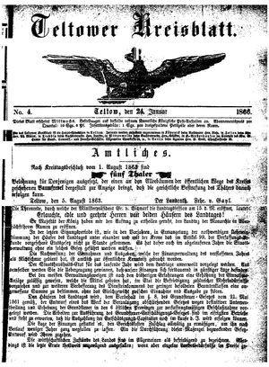 Teltower Kreisblatt vom 24.01.1866
