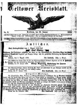 Teltower Kreisblatt vom 31.01.1866