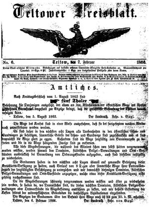 Teltower Kreisblatt on Feb 7, 1866