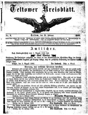 Teltower Kreisblatt on Feb 21, 1866