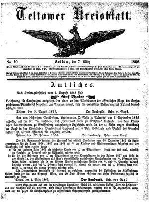 Teltower Kreisblatt vom 07.03.1866
