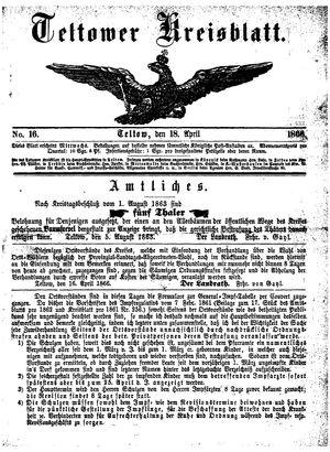 Teltower Kreisblatt on Apr 18, 1866